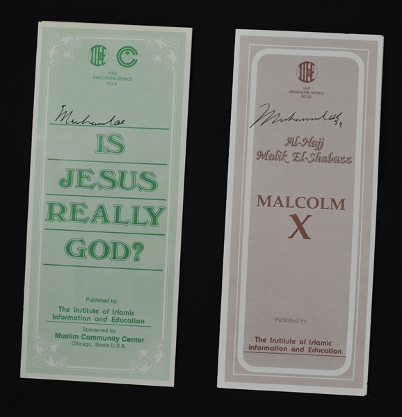 Muhammad Ali Islamic & Malcolm X Signed Dated Pamphlets