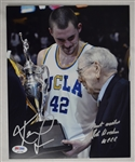 John Wooden & Kevin Love Autographed 8x10 UCLA Photo PSA/DNA