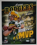 Aaron Rodgers Autographed & Inscribed 8x10 Super Bowl MVP Photo Steiner
