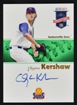 Clayton Kershaw Autographed Rookie Card