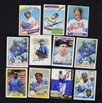Milwaukee Brewers Autographed Baseball Cards w/Larry Hisle