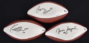 Lot of 3 Autographed Mini Footballs w/Lance Alworth Beckett COA