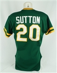Don Sutton 1985 Oakland As Game Used & Autographed Jersey w/Dave Miedema LOA
