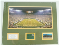 Green Bay Packers Matted Lambeau Field Display