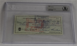 Vince Lombardi Signed 1963 Personal Check #204 BGS Authentic