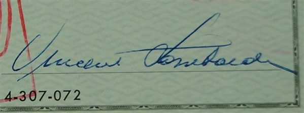 Vince Lombardi Signed 1963 Personal Check #210 BGS Authentic