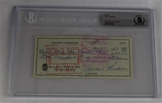 Vince Lombardi Signed 1963 Personal Check #230 BGS Authentic *Made to Green Bay Packers For Tickets*