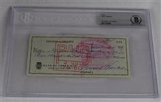 Vince Lombardi Signed 1964 Personal Check #235 BGS Authentic *Made to Green Bay Packers For Tickets*
