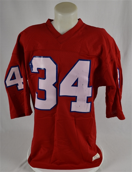 Herschel Walker 1983 New Jersey Generals Game Used Rookie Jersey w/Dave Miedema LOA