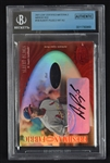 Albert Pujols 2001 Leaf Mirror Red Autographed Game Used Rookie Card #66/75 BGS 10 Auto