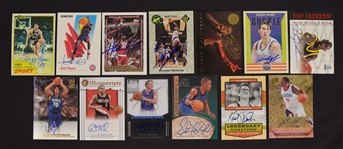 Collection of 13 Autographed Basketball Cards
