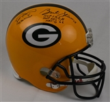 Brett Favre & Bart Starr Autographed & Multi Inscribed Green Bay Packers Full Size Authentic Helmet