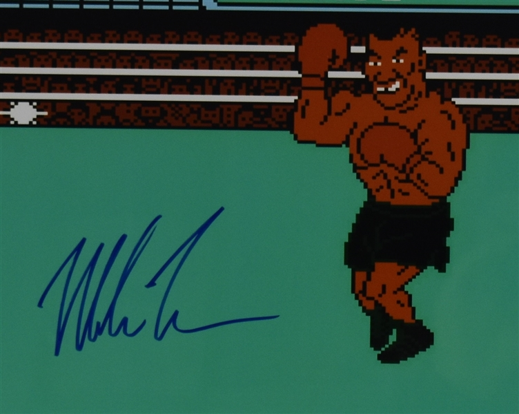 Mike Tyson Autographed Punch Out Framed Display