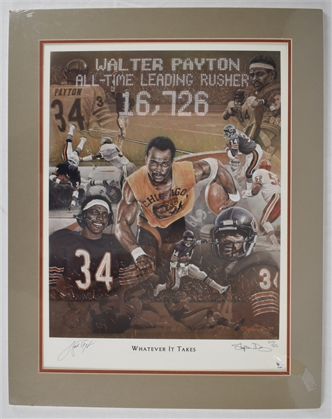 Walter Payton Whatever It Takes Autographed Limited Edition Lithograph