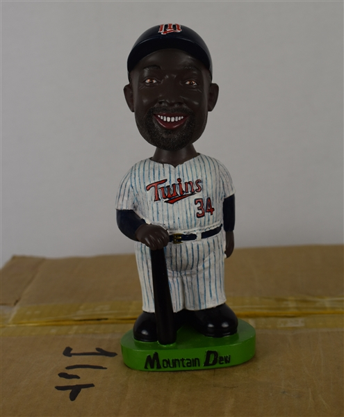 Kirby Puckett Case of 19 Mountain Dew Bobbleheads w/Puckett Family Provenance
