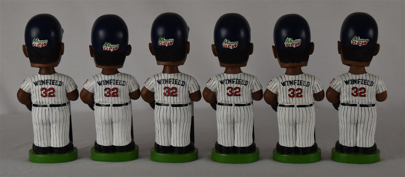 Dave Winfield Lot of 6 Unsigned Bobbleheads w/Puckett Family Provenance