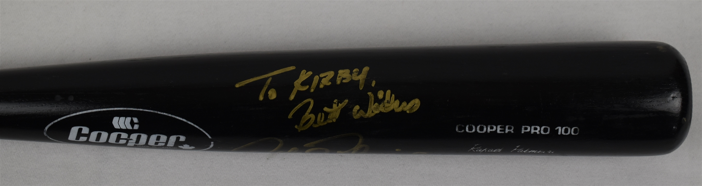 Rafael Palmeiro Game Used & Autographed Bat w/Puckett Family Provenance