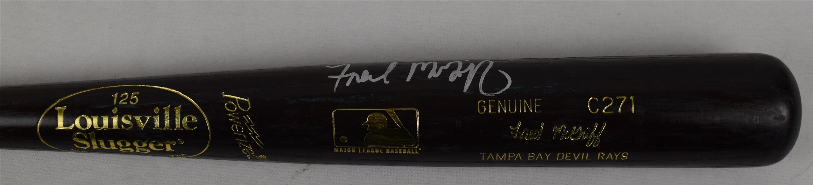 Fred McGriff c. 1999-2001 Game Used & Autographed Bat w/Puckett Family Provenance