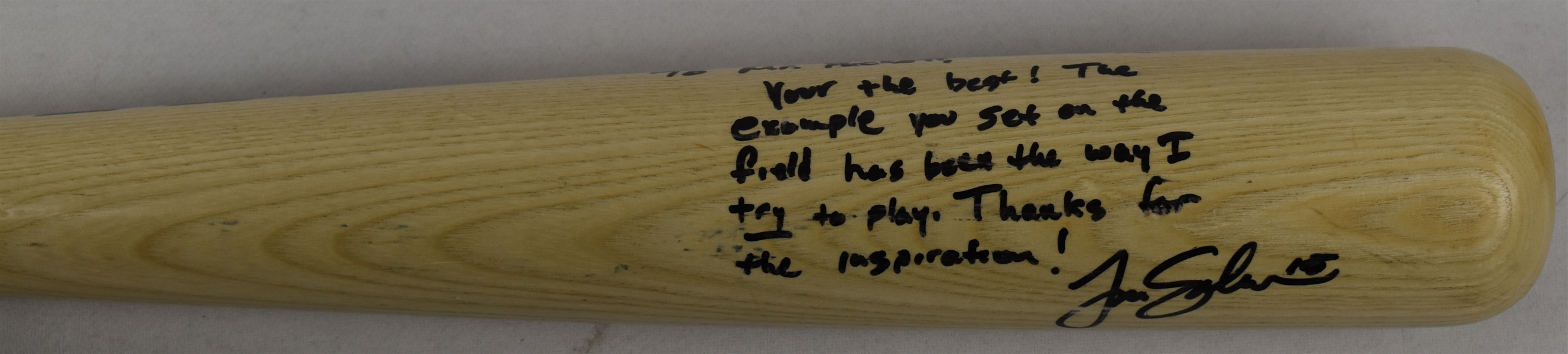 Tim Salmon California Angels Game Used & Autographed Bat w/Puckett Family Provenance