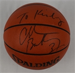 Charles Barkley Autographed Basketball w/Puckett Family Provenance