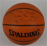 Shaquille ONeal Autographed Basketball w/Puckett Family Provenance