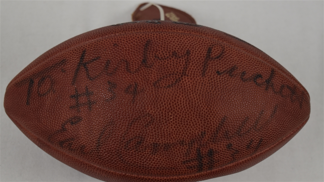 Earl Campbell Autographed Football w/Puckett Family Provenance