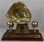 Kirby Pucketts First 1986 Rawlings Gold Glove Award w/Puckett Family Provenance