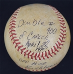 Kirby Puckett Double #400 Baseball w/Puckett Family Provenance