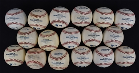 Collection of 17 Game Used Baseball