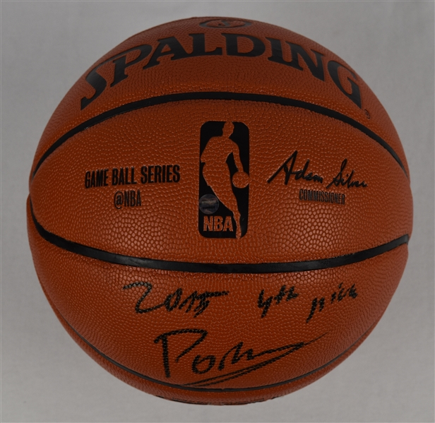 Kristaps Porzingis Autographed & Inscribed Basketball