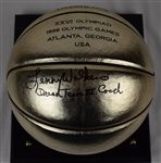 Lenny Wilkens Autographed & Inscribed Dream Team III Olympic Commemorative Basketball w/Case