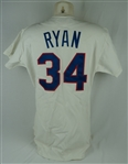 Nolan Ryan c. 1990-93 Texas Rangers Game Used Jersey w/ MEARS & Dave Miedema LOAs