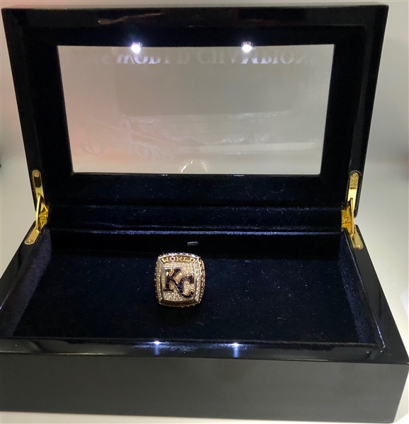 George Sherrill 2015 K.C. Royals World Series Champions 14K Gold & Diamond Ring w/Box