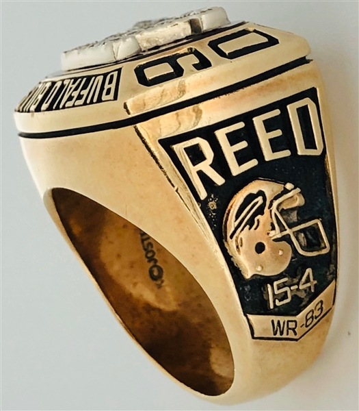 Andre Reed 1991 Buffalo Bills AFC Championship 10K Gold & Diamond Ring w/LOA From Reed