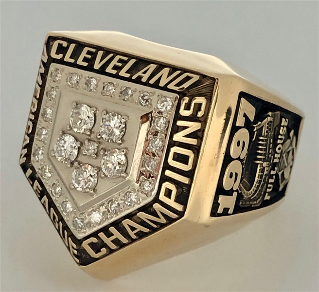 Cleveland Indians 1997 American League Championship Ring 10k Gold w/Diamonds