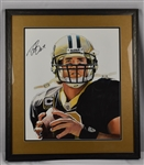 Drew Brees Original  James Fiorentino Watercolor Painting *Signed by Brees*