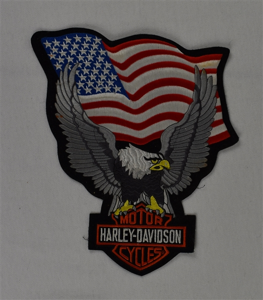 Harley Davidson 10 Inch Eagle/USA Patch in Mint Condition
