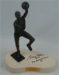 George Mikan Minneapolis Lakers Autographed 2001 Bronze Statue Dedication
