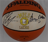 George Mikan & Shaquille ONeal Autographed Minneapolis Lakers Basketball