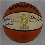 George Mikan Vern Mikkelsen & John Kundla Autographed Minneapolis Lakers Basketball