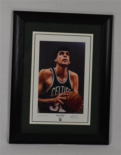 Kevin McHale Autographed & Framed Karl Jaeger Limited Edition Lithograph