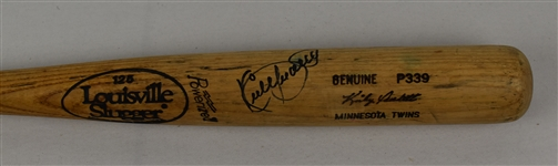 Kirby Puckett Minnesota Twins Game Used & Autographed Bat