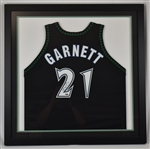 Kevin Garnett 1998-99 Minnesota Timberwolves Game Used & Autographed Jersey Timberwolves & Steiner LOA **Added Photos of Tagging**