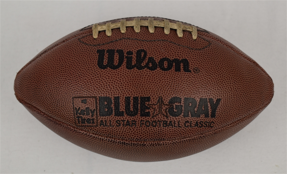 Blue-Gray Game NCAA Game Used Football