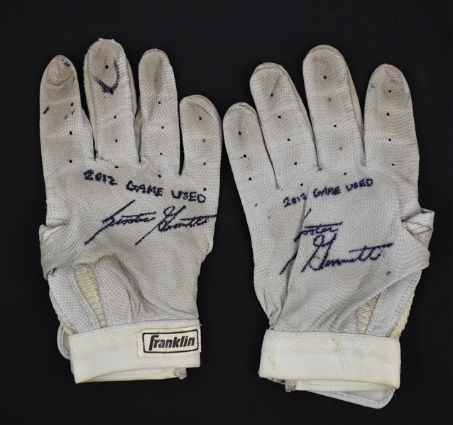 Scooter Gennett 2012 Milwaukee Brewers Game Used Batting Gloves