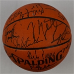 1991 NBA All-Star Game Basketball w/30 Signatures Including Michael Jordan Magic Johnson & Charles Barkley Full JSA LOA