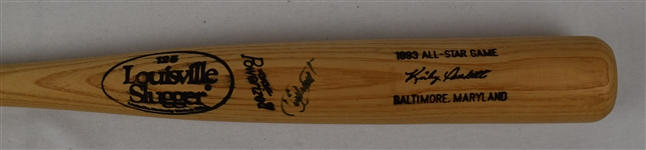 Kirby Puckett 1993 All-Star Game Autographed Bat w/MLB LOAs *Kirbys MVP Game*