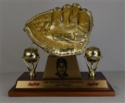Kirby Pucketts 1989 Rawlings Gold Glove Award w/Puckett Family Provenance