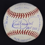 Kirby Puckett Autographed & Multi Inscribed Stat Ball w/Puckett Family Provenance