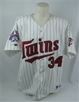 Kirby Puckett 1995 Minnesota Twins Game Used & Photomatched All-Star Game Jersey w/Puckett Family Letter & Resolution Photomatch